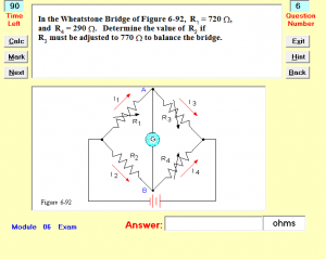 Interactive Exam Question screen image
